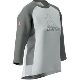 Zimtstern PureFlowz 3/4 Shirt Damen glacier grey/gun metal/blush